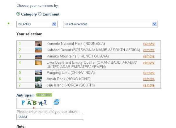 Pilih Komodo nominasi pertama