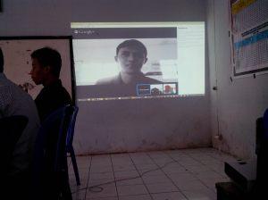 Ujicoba Video Confrence dengan Pak Waldi