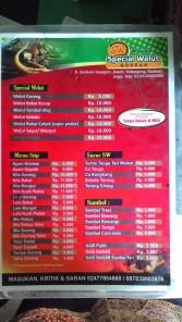 Daftar Harga menu